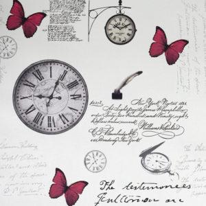 роллшторы с часами, бабочки