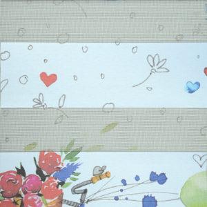 ролл-шторы детская шары цветы