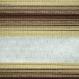 ролл-шторы зебра гофрированные с шоколадно-бежевым градиентом