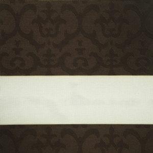 роллштора зебра с орнаментом, коричневый
