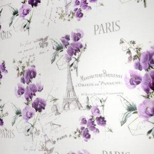 шторы с цветами Париж