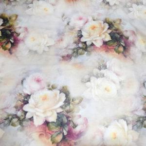 шторы портьеры лен с розами