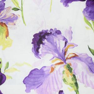 шторы с цветами ирисы