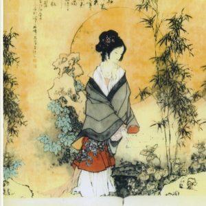 ролл шторы японская девушка