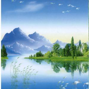 ролл шторы озеро горы