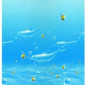 роллшторы с фото дельфины рыбки