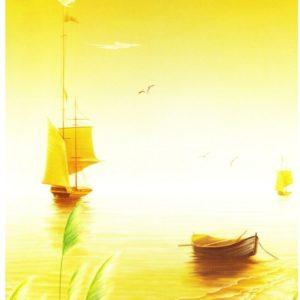ролл шторы фото желтая река кораблики
