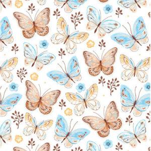ролл-шторы детские бабочки